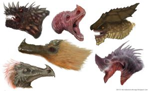 Dragon Head Designs by Devin87