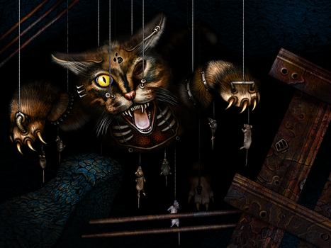 The Knobbly Crook - Cat Totem by RingmasterBent