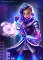 Sombra Overwatch Fanart by TiNyThanhTruc