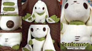 Terriermon Plush by Marki-san-Design