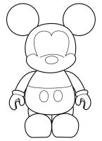 Mickey Vinylmation Template by errantscarecrow