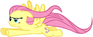 My eighth vector of Fluttershy. by Flutterflyraptor