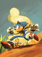west :feat. Sonic: by edtropolis