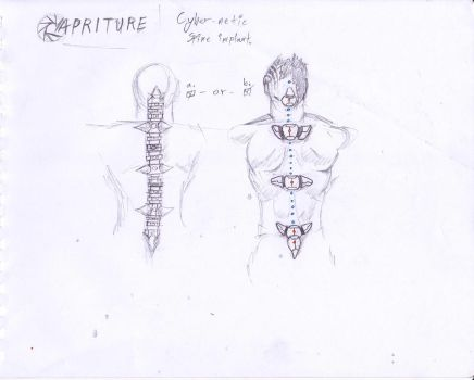PC 03 Cybernetic Spine Implant by Exleston