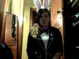 MY HALLOWEEEN COSTUME  A BUNNY by mollymolly3