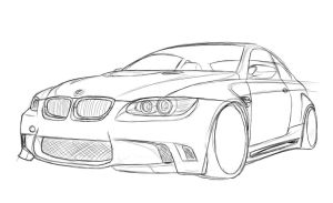 BMW e92 Sketch by dazza-mate