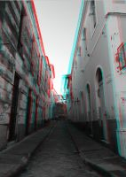 Narrow Street 3-D conversion by MVRamsey