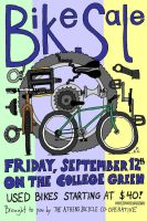 Bike Sale Poster by DJ-Erock