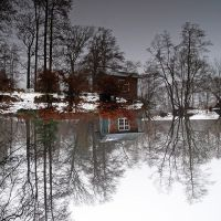 house at the lake by augenweide
