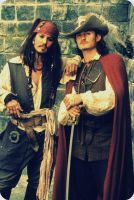 Jack Sparrow and Will Turner by Depporgeus