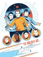To Boldly Go: JJ Abrams art show @ Gallery 1988 by nakedDerby