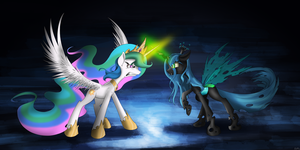 Clash of Queens by flamevulture17