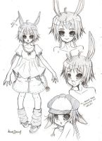 Chara Design 1 for Easter Love by NigthmareSakura