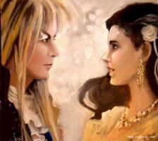 Labyrinth Portraiture in Oils by BlueBirdie