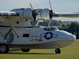 Catalina on the ground - Duxford 2012 by davepphotographer