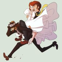 Lupin the Third - Cagliostro by mortinfamiART