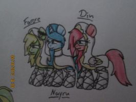 Farore,Nayru,and Din :D *colored version* by Ask-Flare22