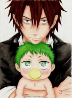 Oga and Baby Beel by niinean