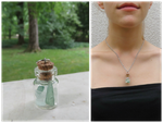 Sea glass bottle #1 by FairyWorkshop