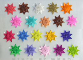 Stars of Eden, set 201-215 by Figuer