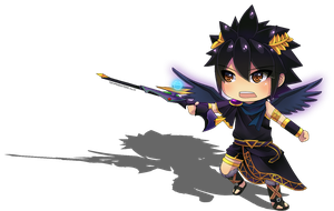 Chibi Dark Pit by tofuproductionz