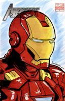 Sketch Cover - Iron Man by AJSabino
