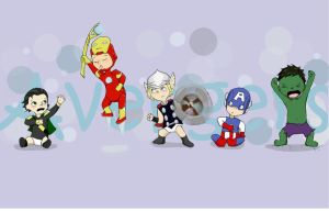little avengers by foxyjoy