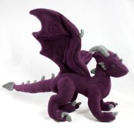 Dark Purple Dragon Plushie - For Sale by BeeZee-Art