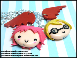 Code Lyoko Necklaces by GrandmaThunderpants
