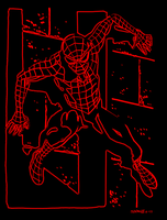 Neon Spiderman by 2barquack
