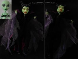 Monster High CAM Repaint Custom Doll Maleficent by cherrybomb-81