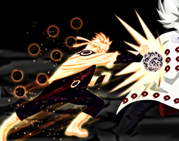 Naruto 674  - Naruto VS Madara by X7Rust