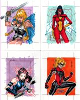 Marvel Dangerous Divas cards 3 by SpiderGuile