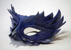 Purple Feather Leather mask by Shadows-Ink