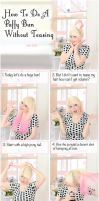 Puffy Bun Hairstyle Tutorial by VioletLeBeaux