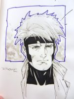 Gambit Con doodle - SDCC 2014 by aethibert
