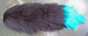 Blue an Black Fox tail by user-name-not-found