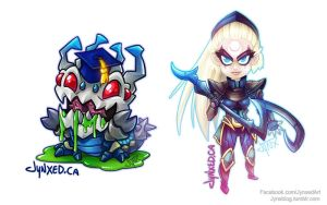 Kog-Maw / Diana | League of Legends by Jynxed-Art