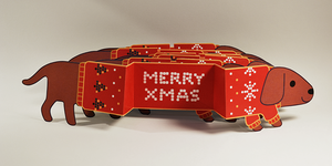 Merry Xmas Dachshunds by zipple