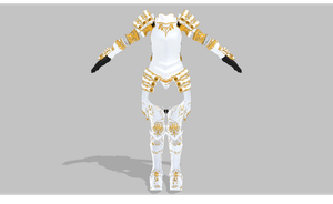 MMD Armor set by amiamy111
