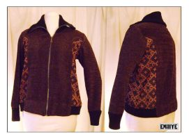Veste lainage brun by Emillye