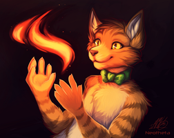 Fire Feline by Neotheta