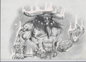 WoW Tauren Concept Art by STrippin