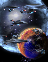 Last Evacuation Fleet by wawashin