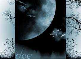dce background blue moon by DaNoTomorrow
