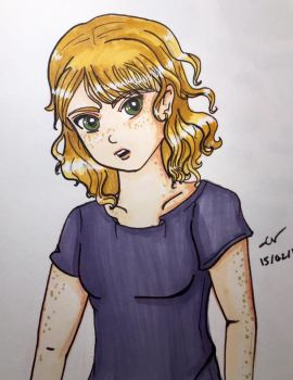 Character Sketch 1 - Lacey by heyraynie