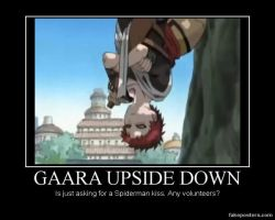 Gaara upside down by Sakura-Ex