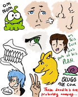 Doodle Dump 4 by my-name-is-totoro