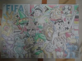 FIFA World Cup Mascots CHEER by ChaoslordFakhrur