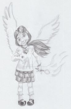 7 year old girl illustration by Animator-who-Draws